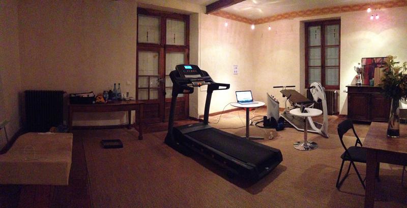 Une salle parfaitement équipée dans les locaux d'Holiste. Il ne reste plus qu'à courir...